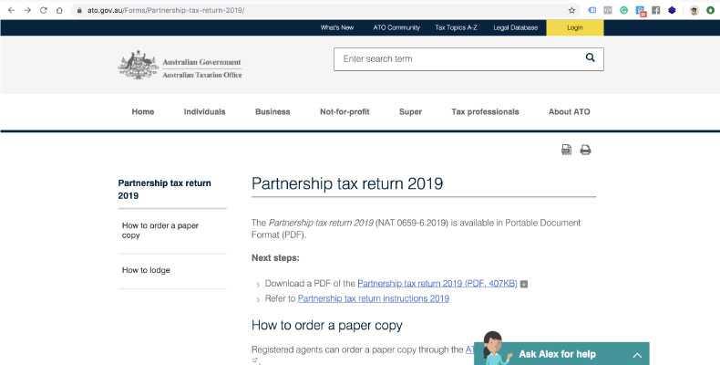 Partnership-tax-return-2019